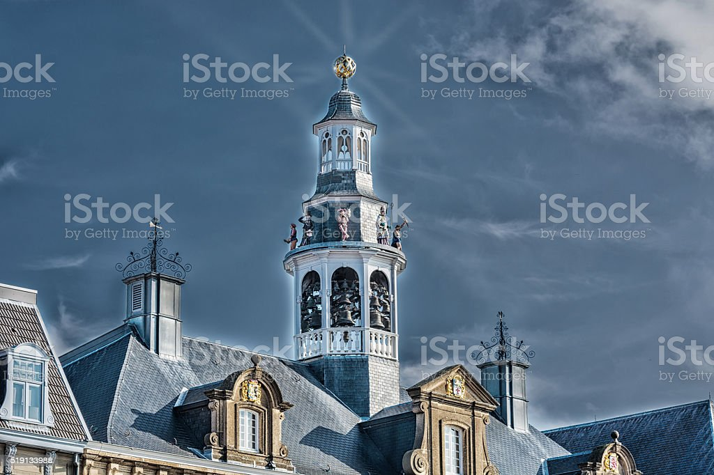 Old historic church spire stock photo