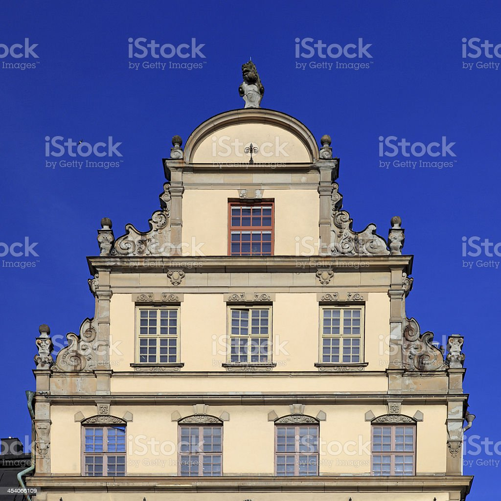Old historic facade royalty-free stock photo