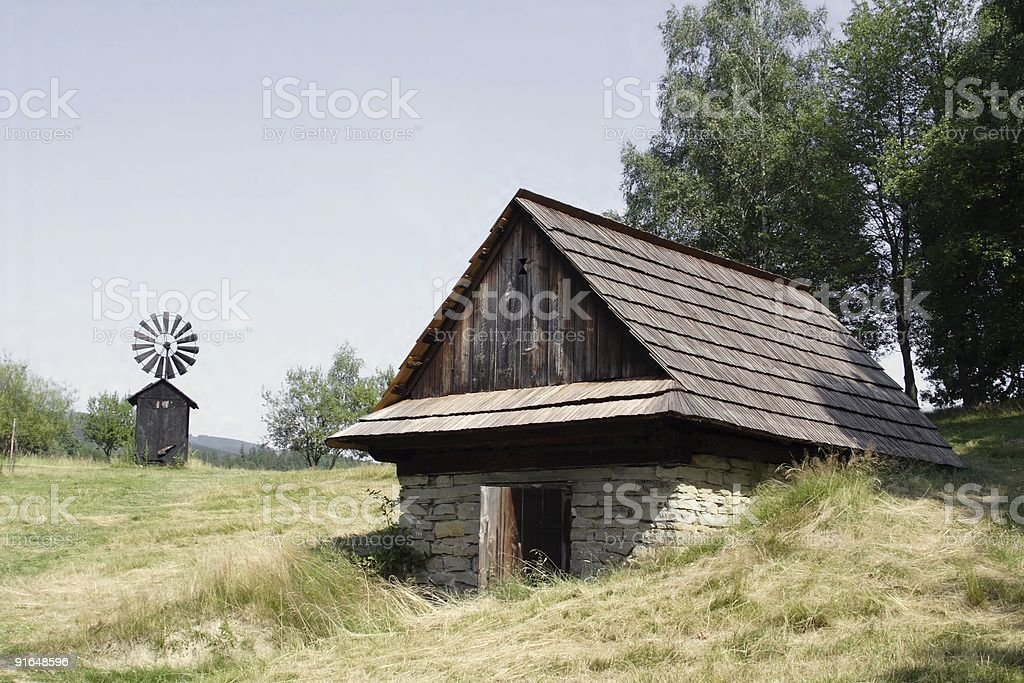 old historic houses royalty-free stock photo