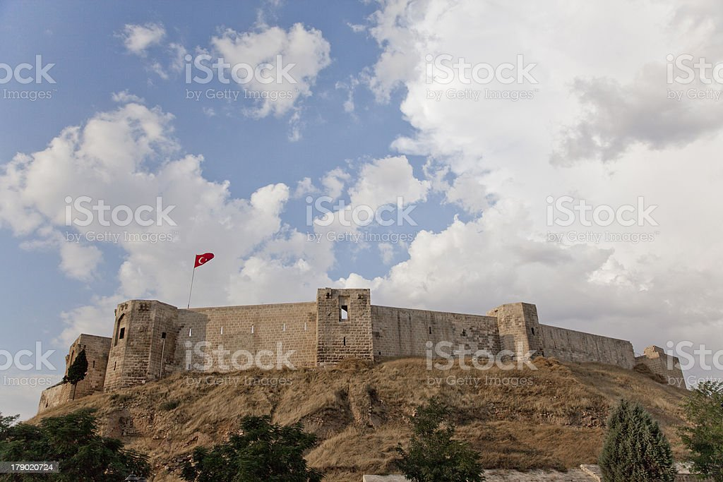 Old historical castle at center of gaziantep in turkey stock photo