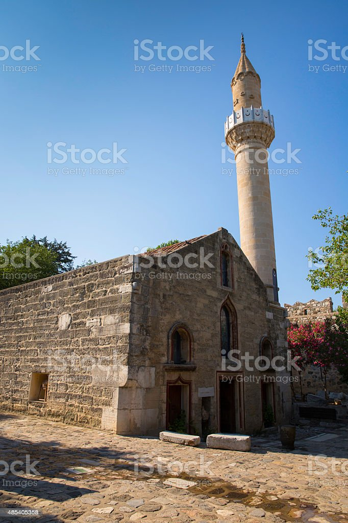 Old historical Mosque in Bodrum Castle, Turkey stock photo