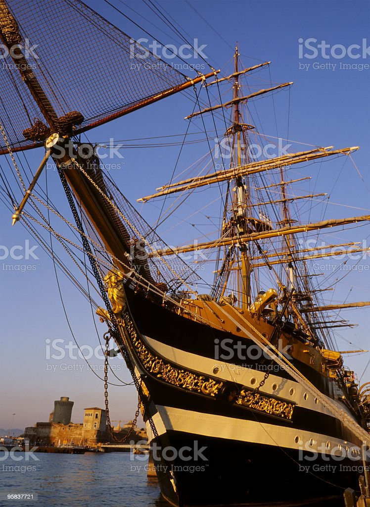 Old Historical Ship royalty-free stock photo