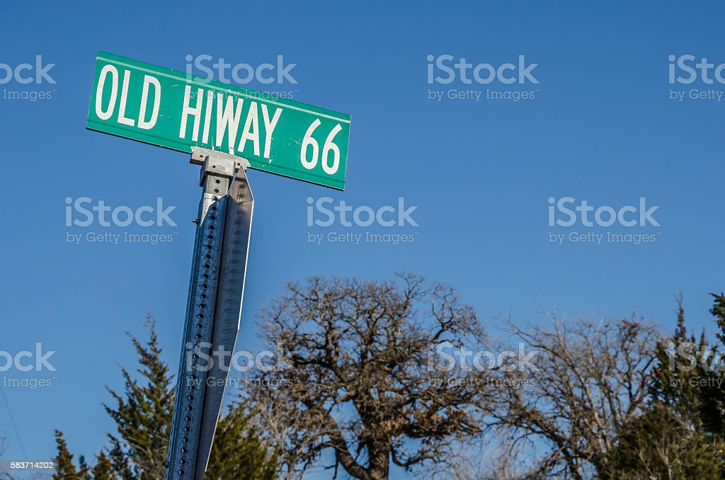 Old Hiway 66 Sign stock photo
