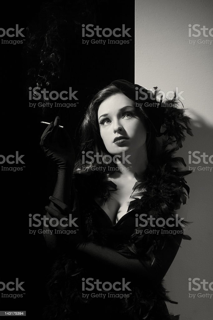 Old Hollywood.Fashion Diva stock photo