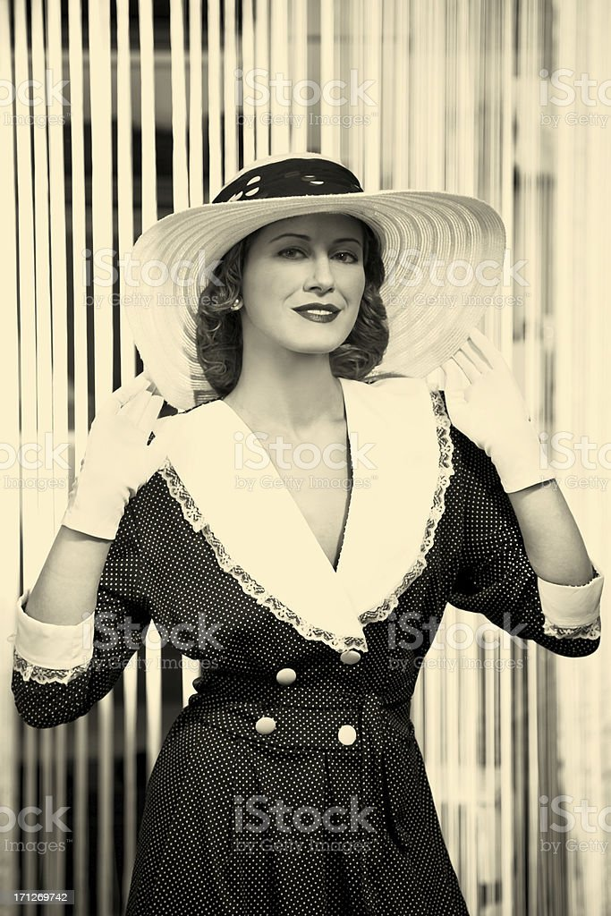 Old Hollywood.Female portrait stock photo