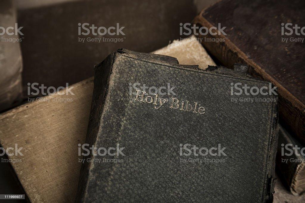 Old holy bible horizontal stock photo