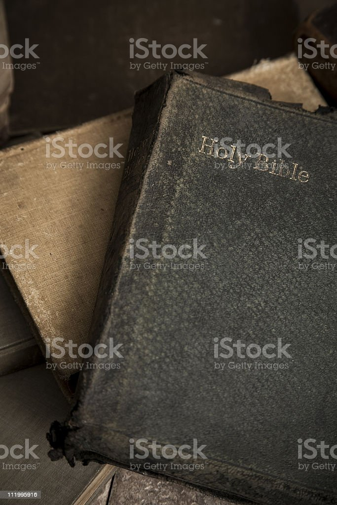Old holy bible royalty-free stock photo