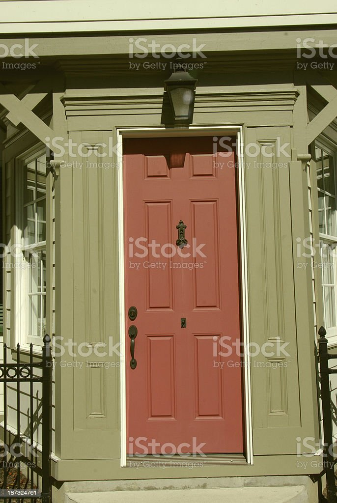 Old home entrance royalty-free stock photo