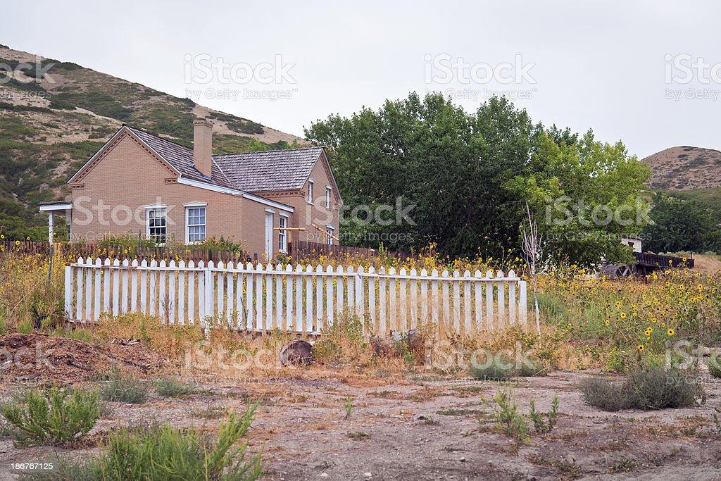 Old Home in Salt Lake City Utah USA royalty-free stock photo