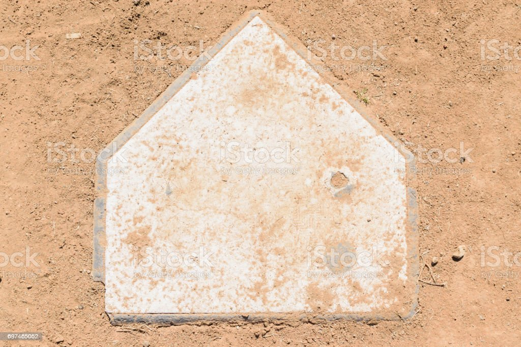 Old home plate stock photo