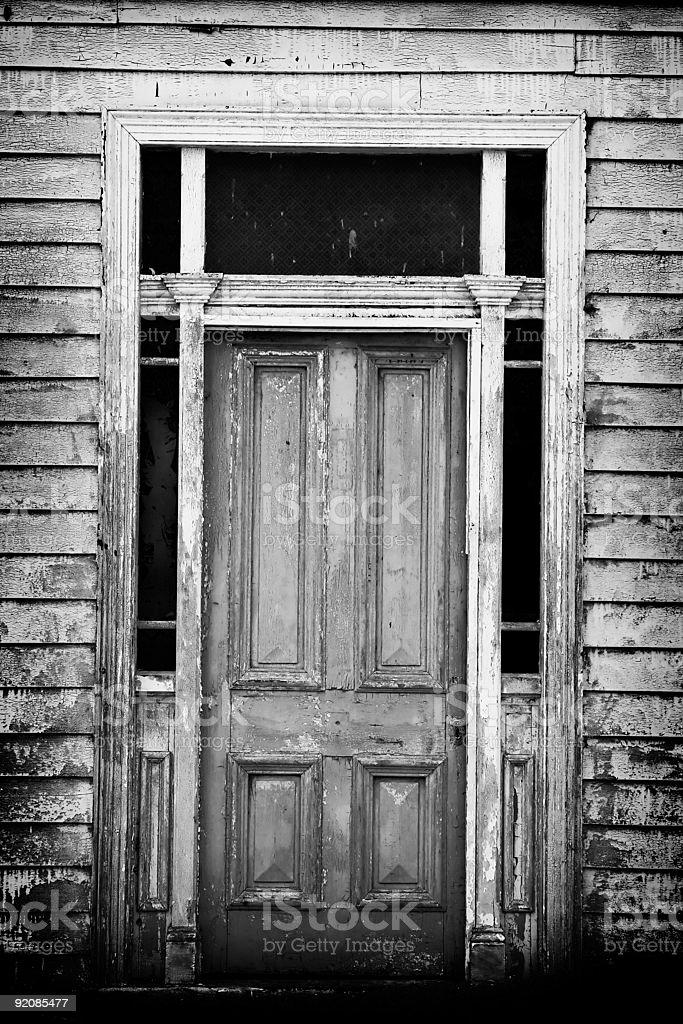 old homestead door stock photo