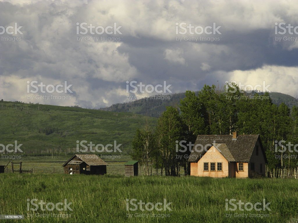 Old Homstead Wyoming royalty-free stock photo