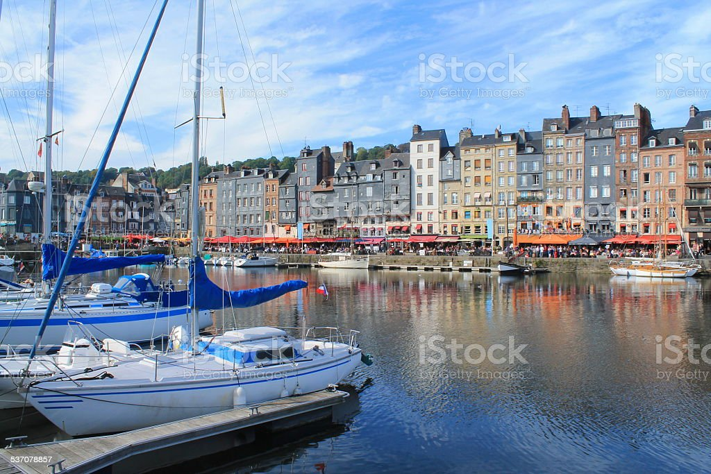 Vieux bassin d'Honfleur, France stock photo