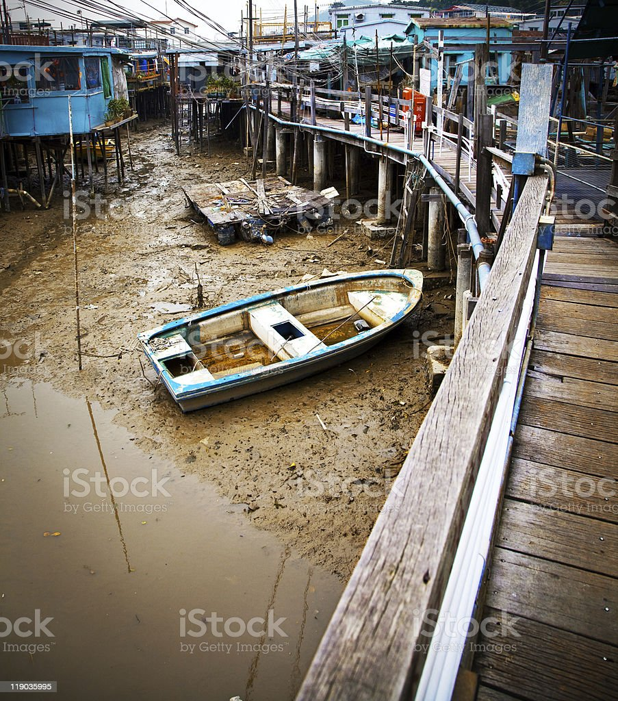 Antigua ciudad de Hong Kong en seco foto de stock libre de derechos