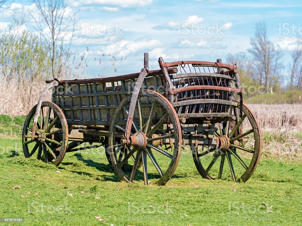 Old horse carriage stock photo