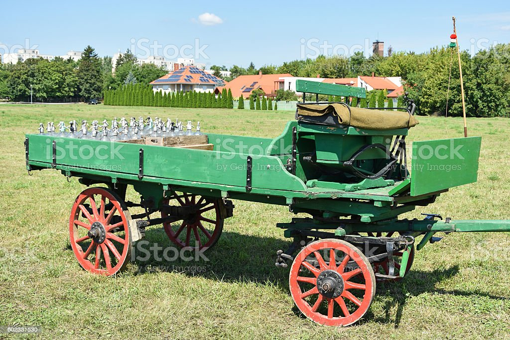 Old horse drawn carriage stock photo