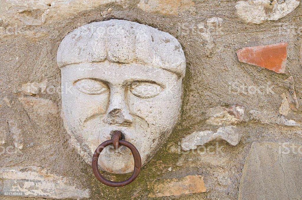 Old horse ring. Guardia Perticara. Basilicata. Italy. stock photo