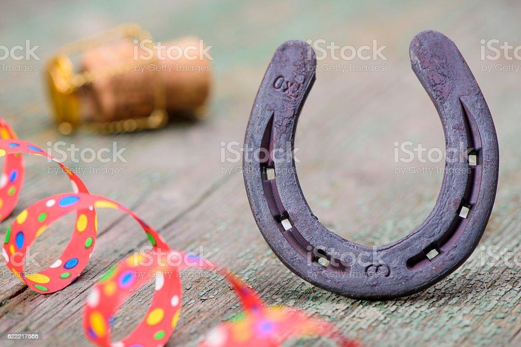 old horse shoe stock photo