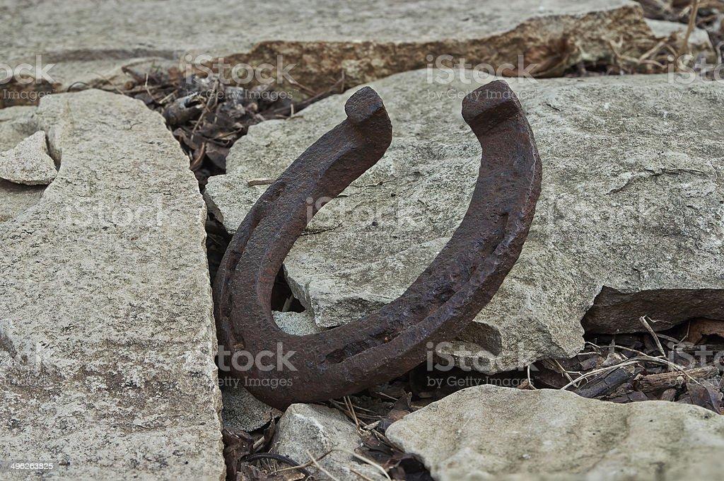old horseshoe royalty-free stock photo