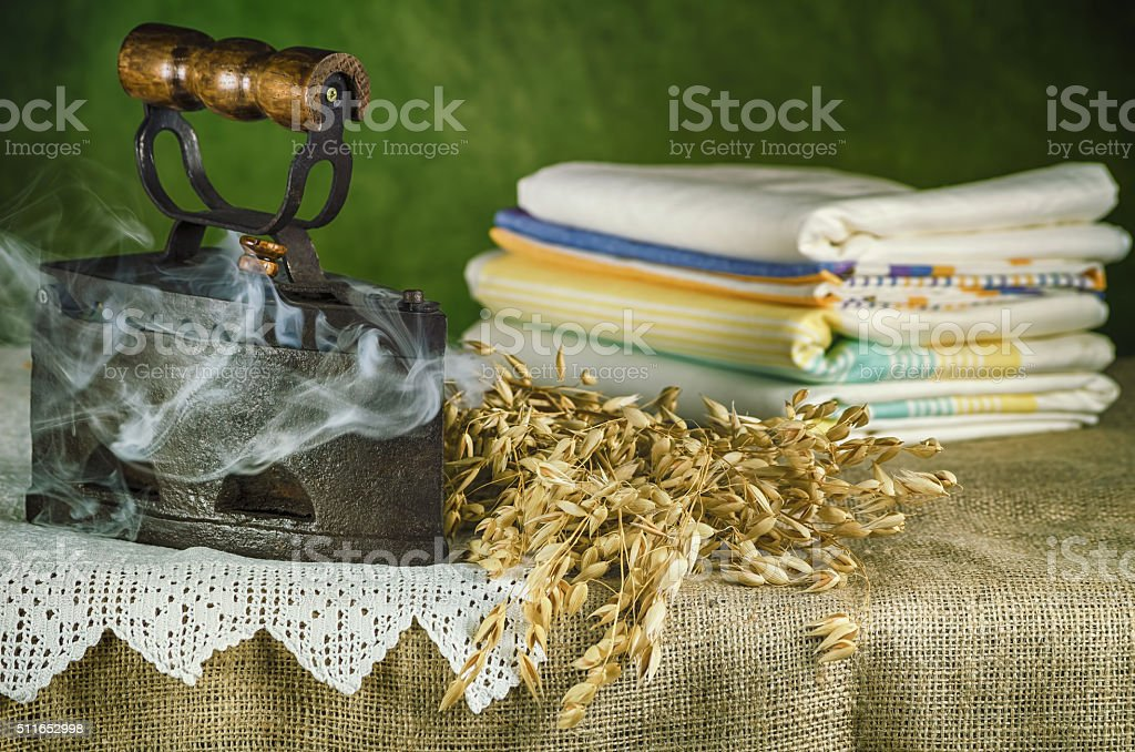 Old Hot Iron stock photo