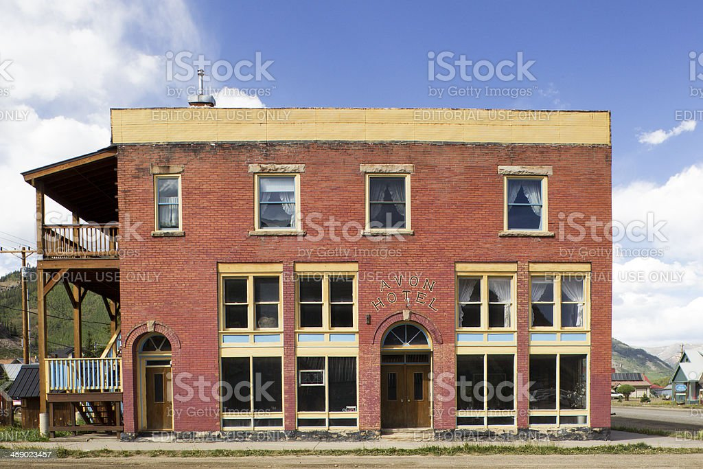 Old Hotel in Silverton, Colorado royalty-free stock photo