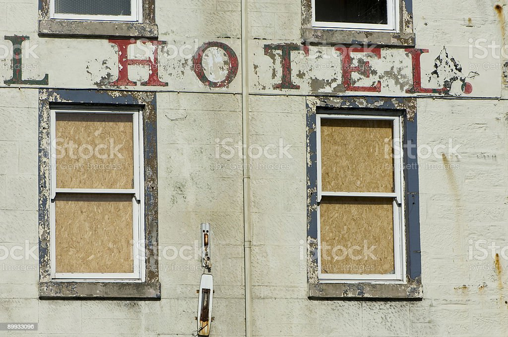 Old hotel stock photo