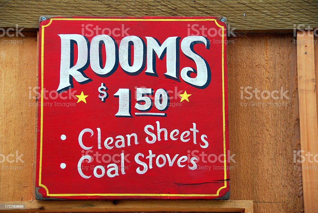 Old Hotel Sign royalty-free stock photo