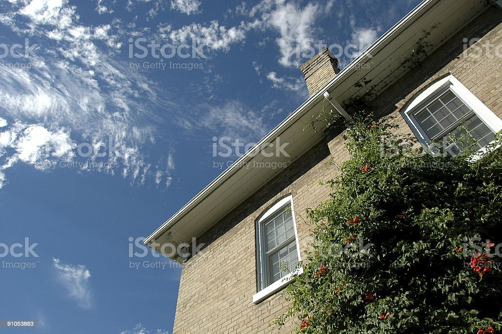 Old House and Sky royalty-free stock photo