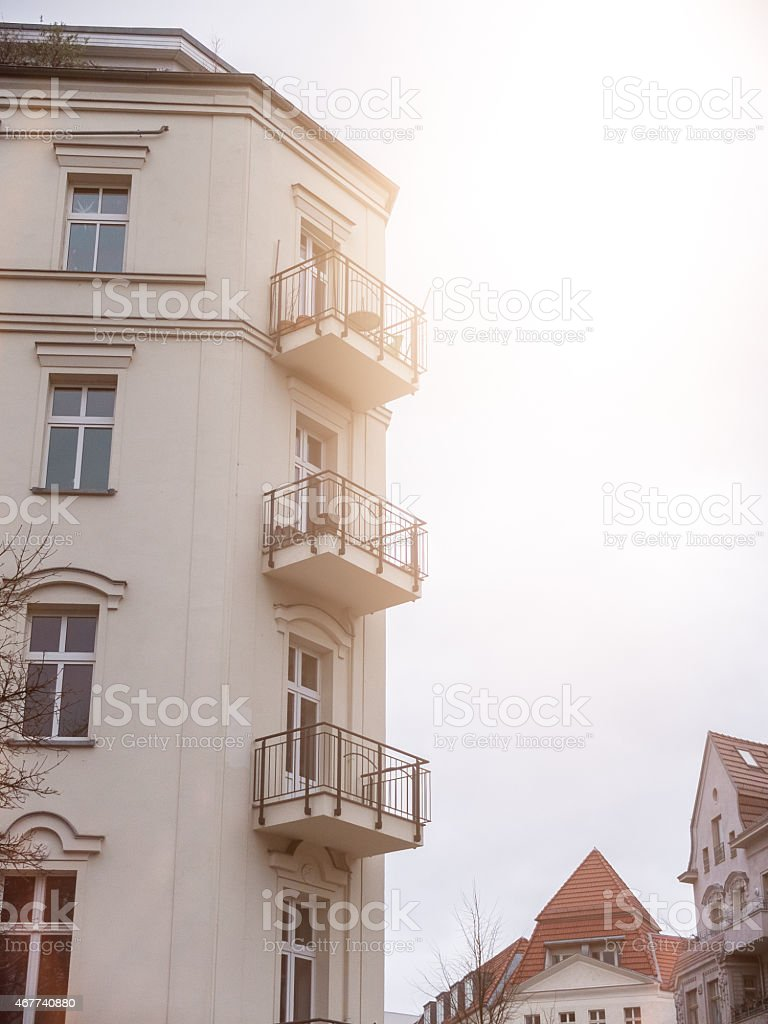 old house at prenzlauer berg stock photo