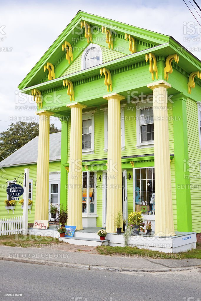 Old House, Chatham, Cape Cod, Massachusetts, USA. royalty-free stock photo