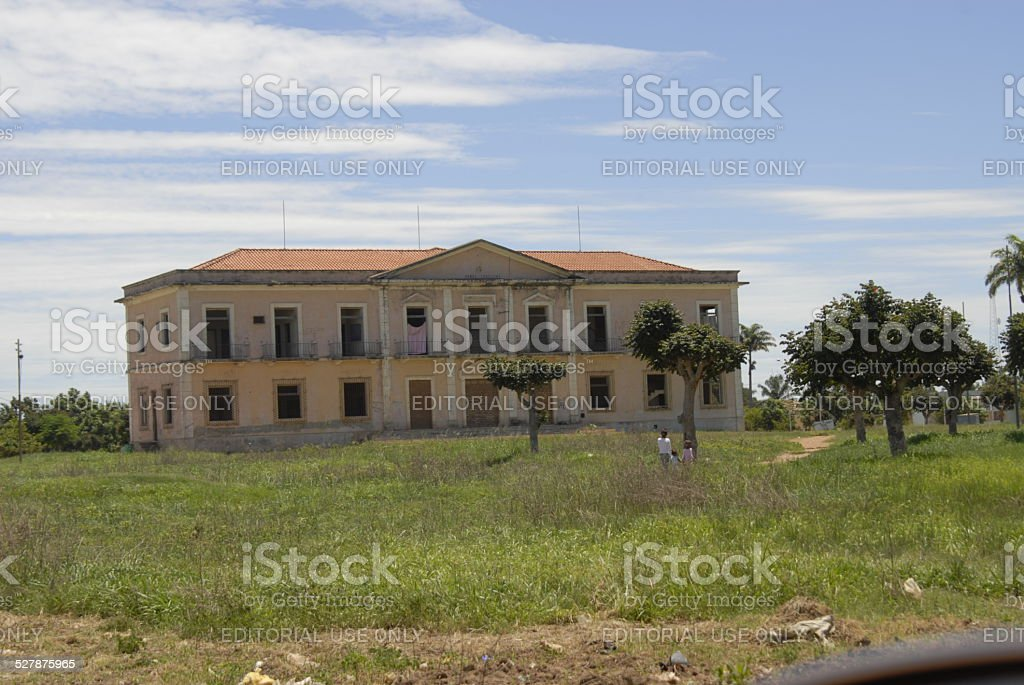 Old house destroyed by civil war royalty-free stock photo