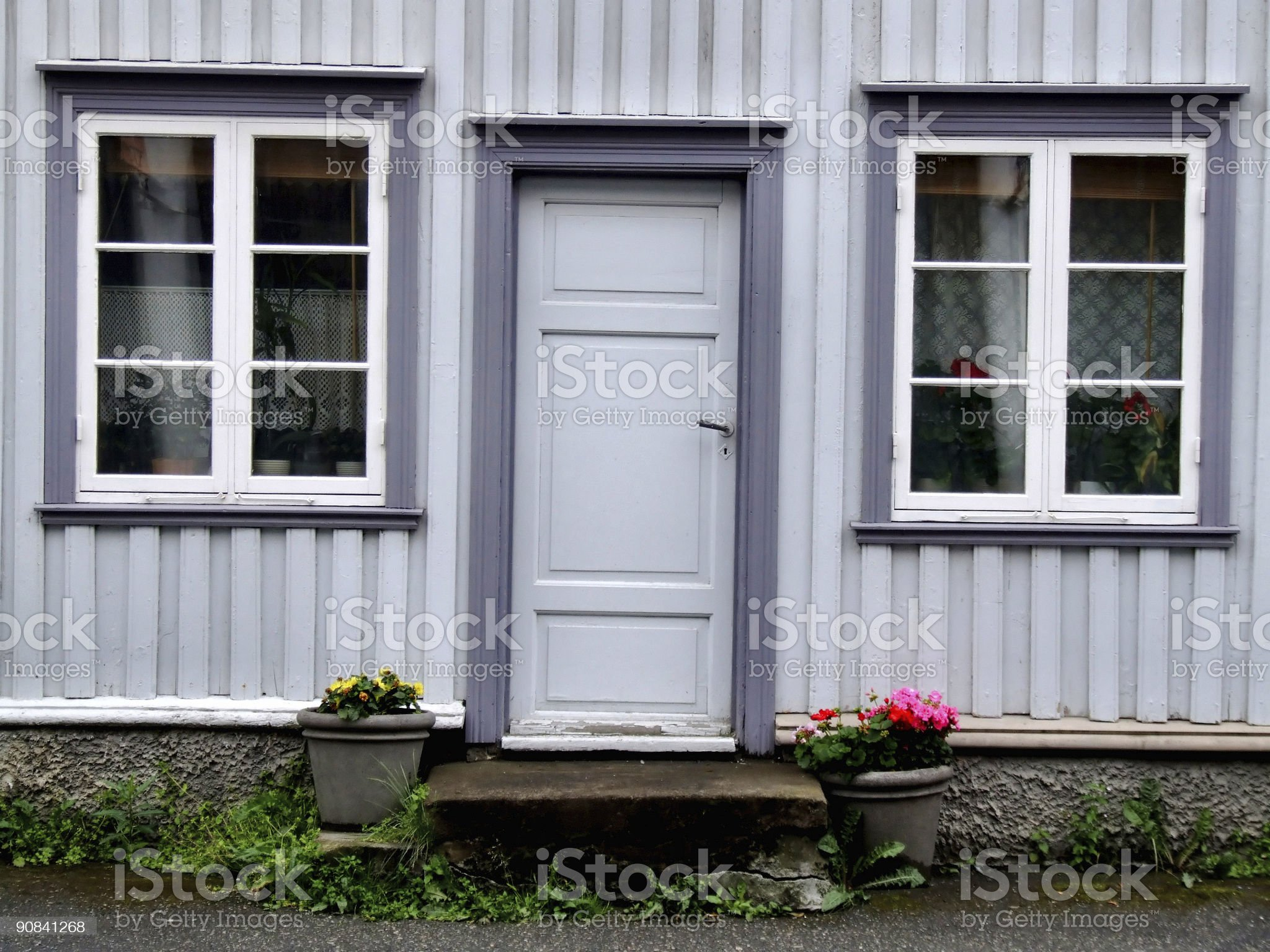 Old house door and windows royalty-free stock photo