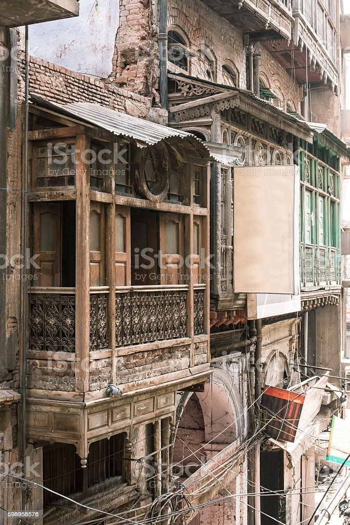 Old house in Amritsar, Punjab, India stock photo