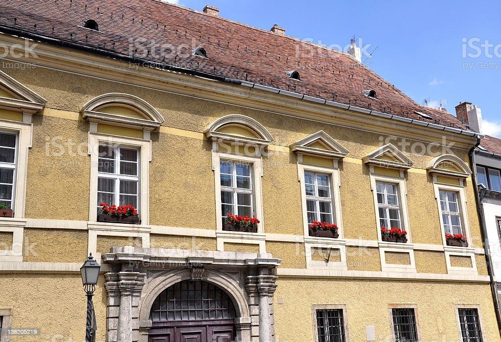 Old house in Buda, Budapest, Hungary royalty-free stock photo