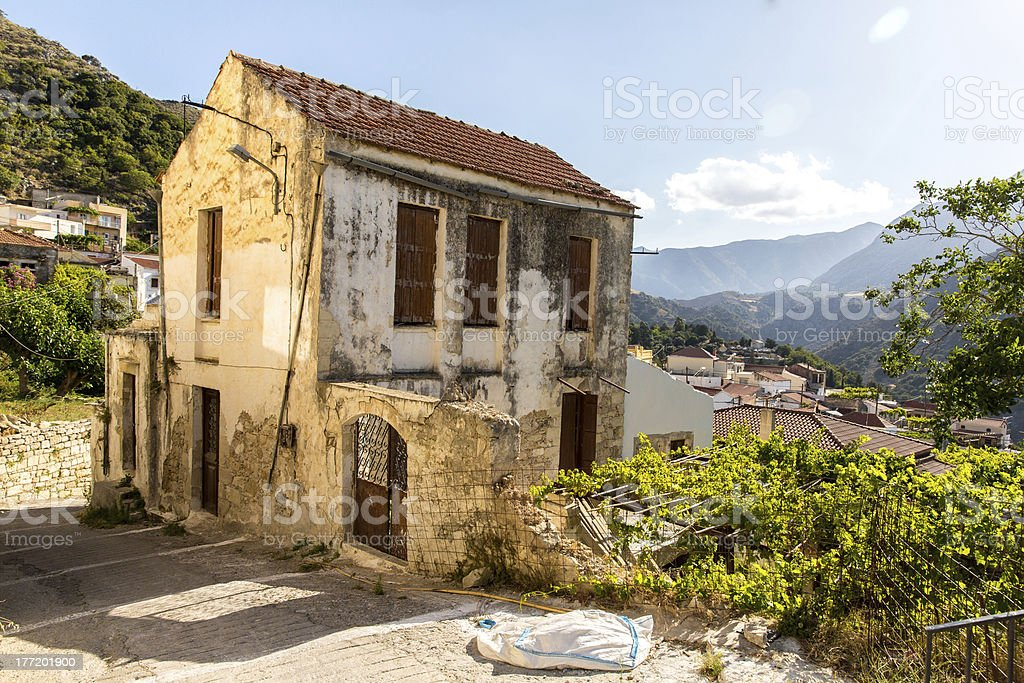 Old house in Crete, Greece. royalty-free stock photo