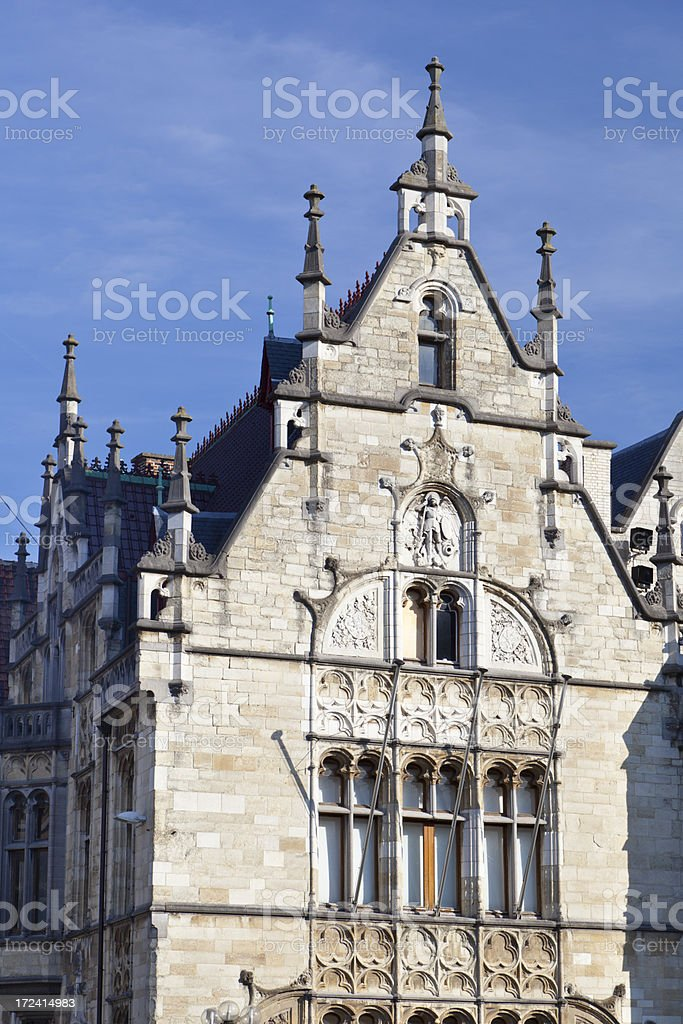 Old House In Ghent royalty-free stock photo