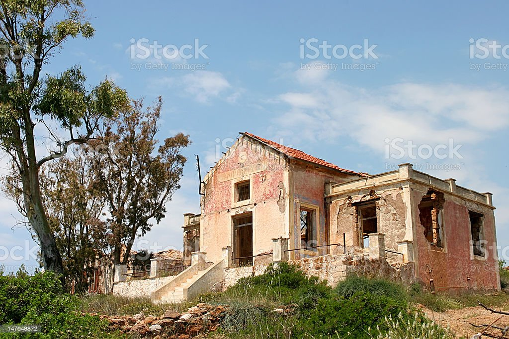 Old House in Greece royalty-free stock photo
