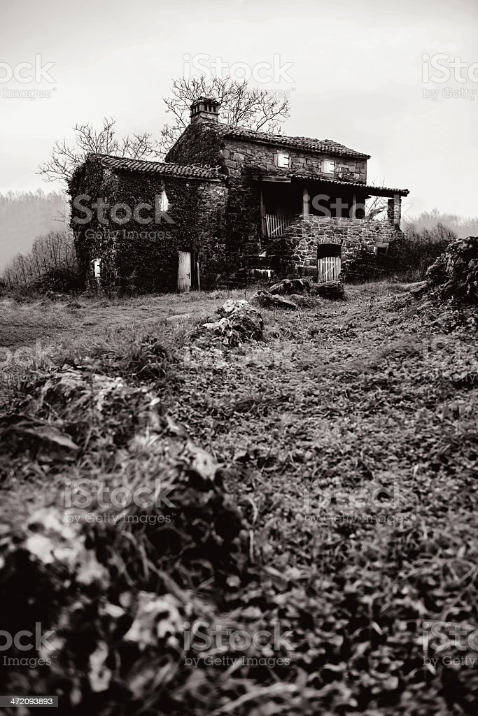 Old house in Istra royalty-free stock photo