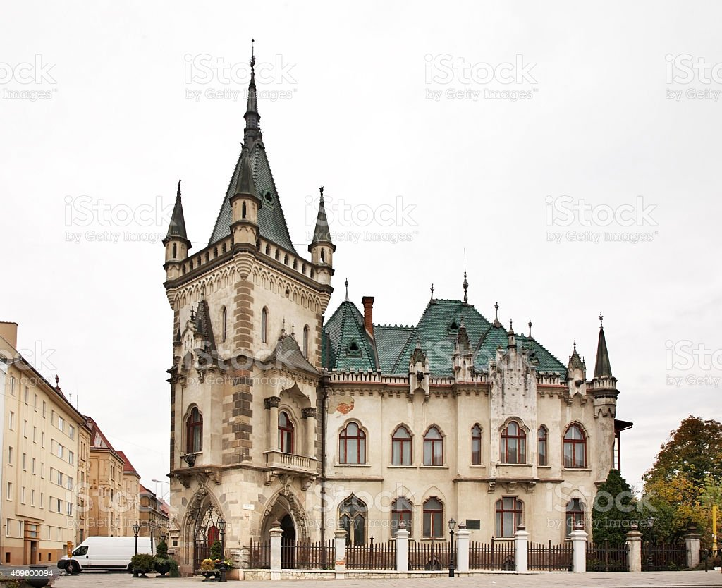 Old house in Kosice. Slovakia stock photo