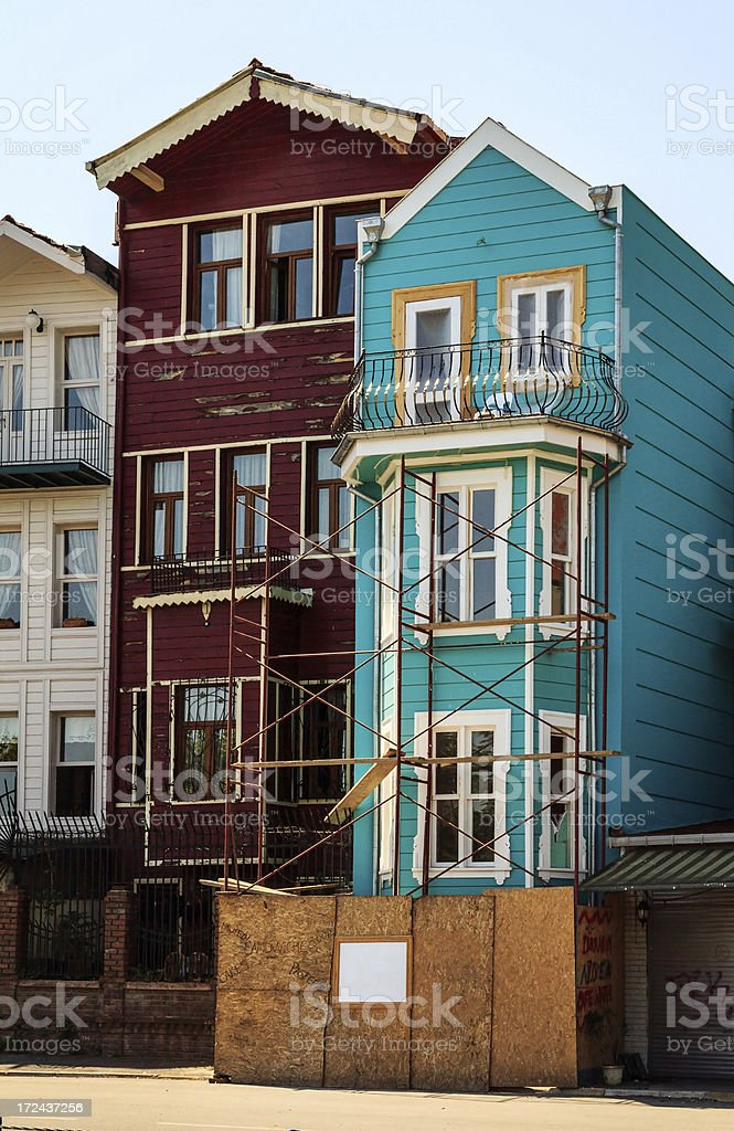 Old House in Restoration royalty-free stock photo