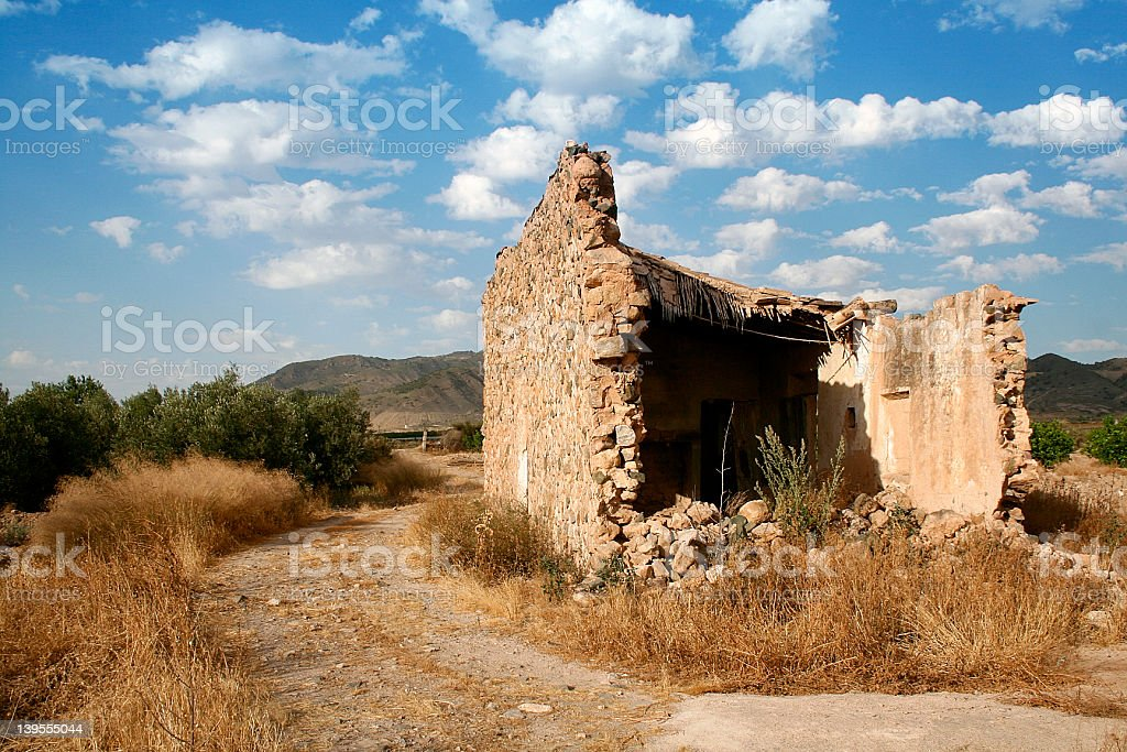 Old house in ruins royalty-free stock photo