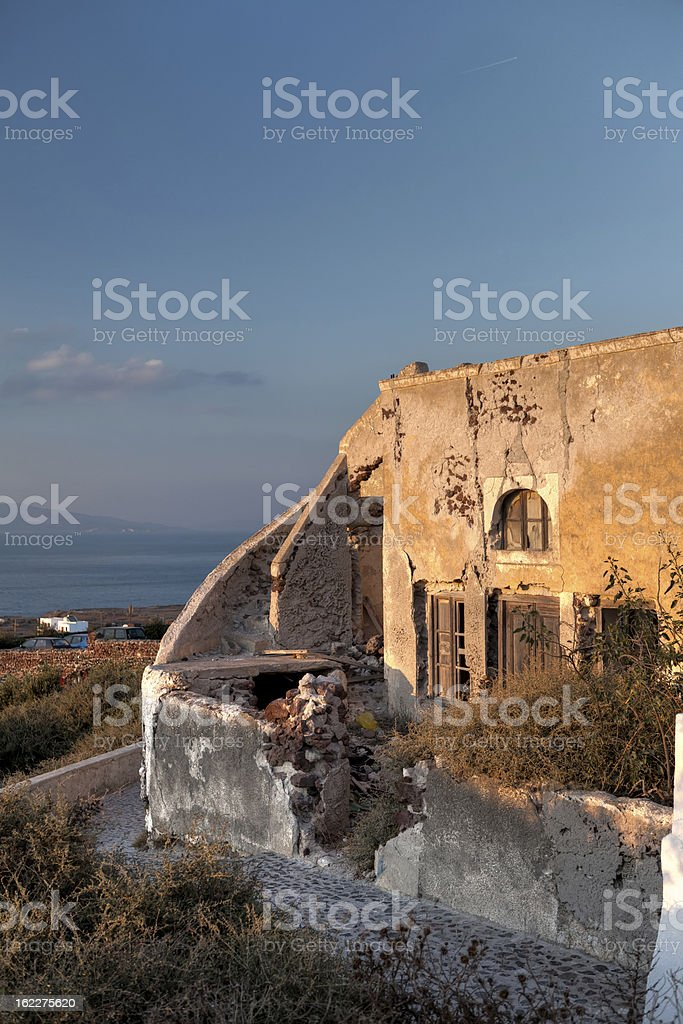 Old House in Santorini royalty-free stock photo