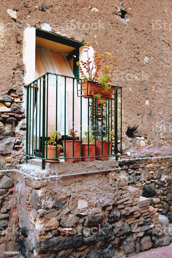 Old house in Sicilia stock photo