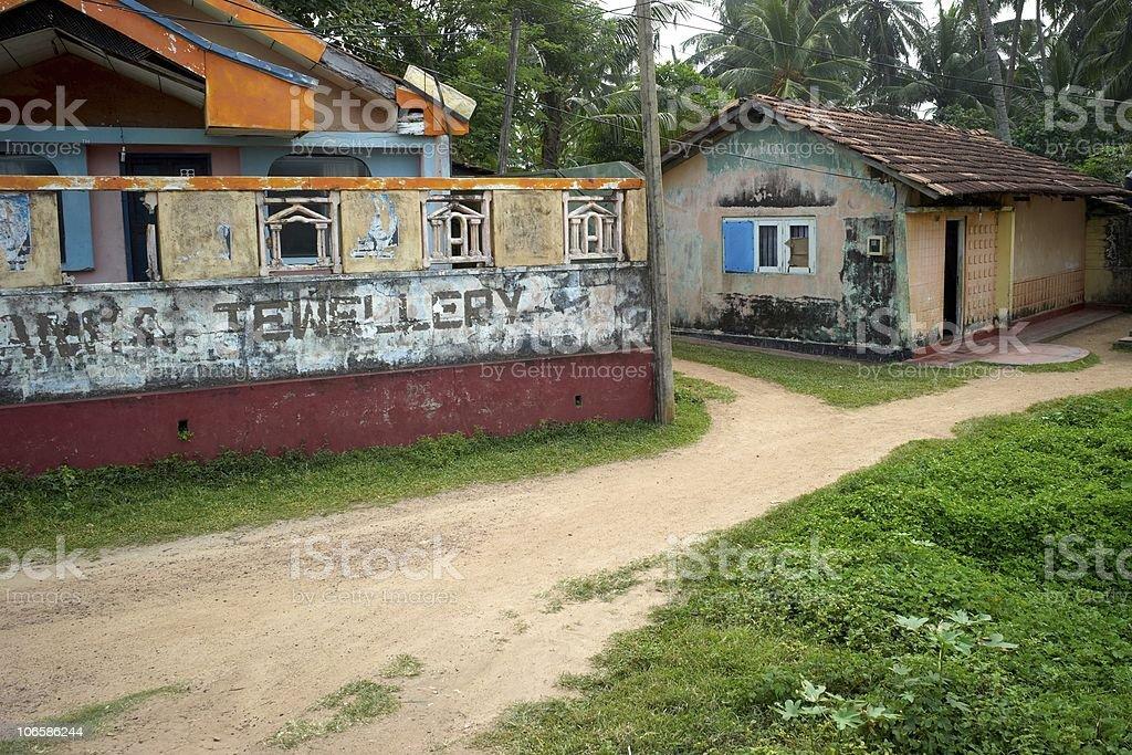 Old house in Sri Lanka royalty-free stock photo