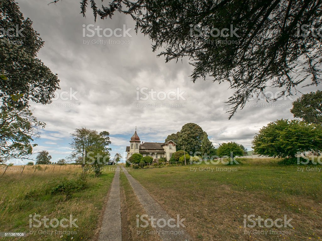 Old House in the near of Puerto Varas royalty-free stock photo