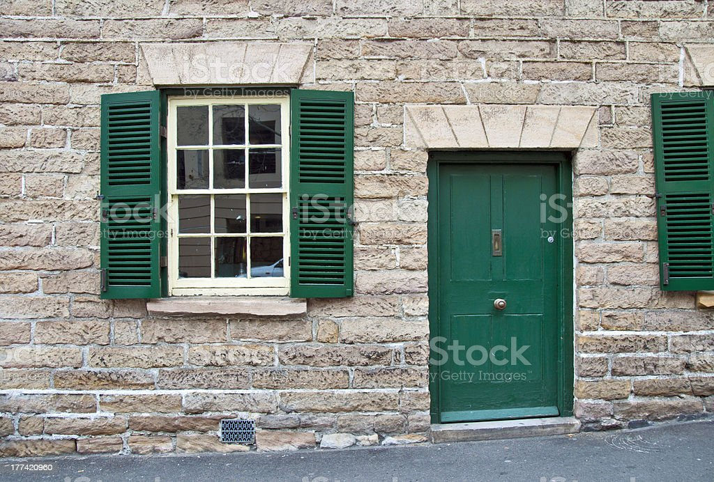 Old house in The Rocks, Sydney stock photo