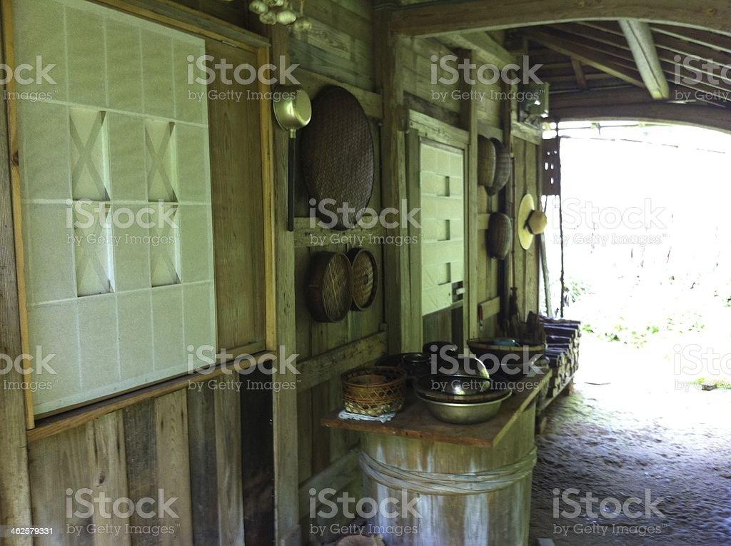old house in Tokushima,Japan stock photo