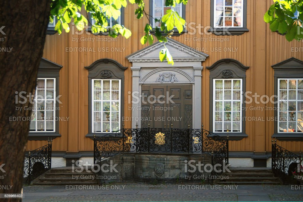 Old house in Trondheim, Norway stock photo