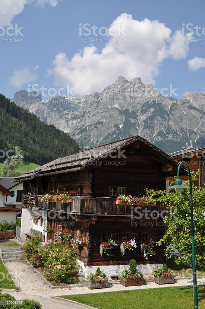 Old house in Werfenweng, Austria stock photo