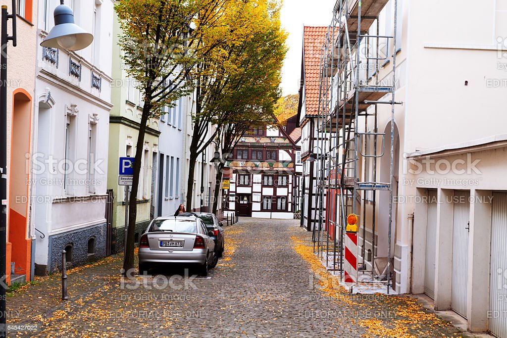 Old house museum for town history Paderborn stock photo